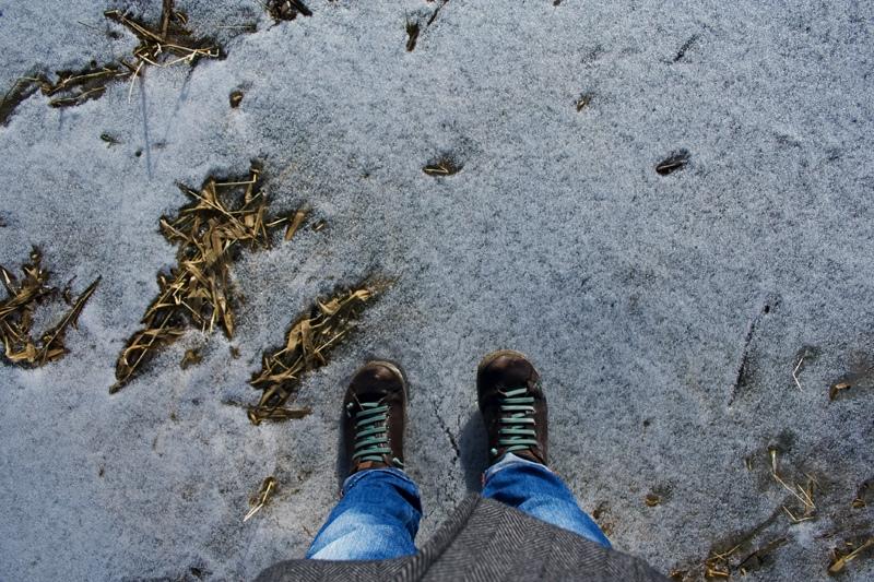 walking on cerknica lake