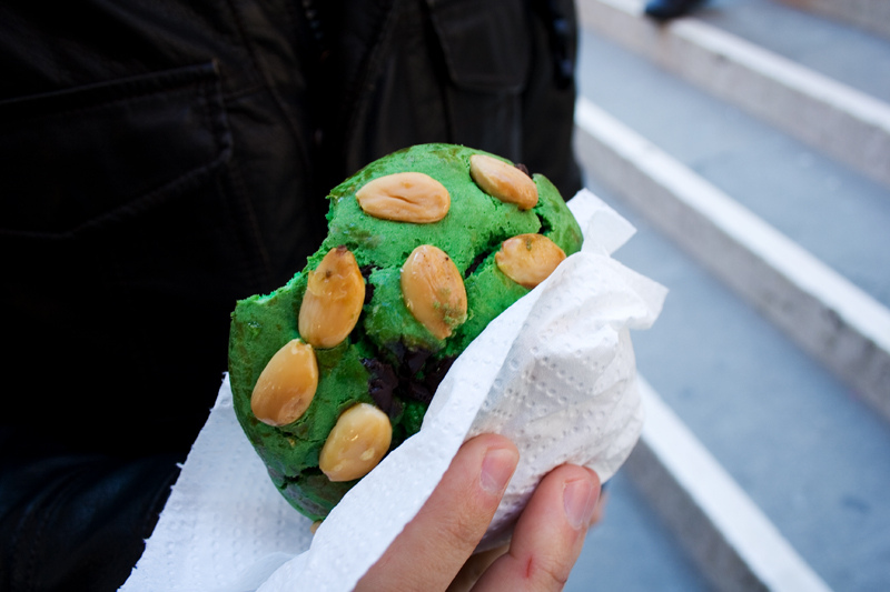 really green almond cookie