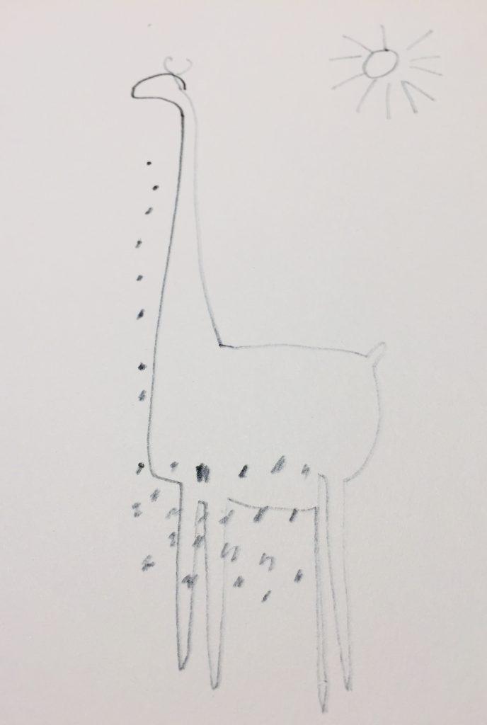 badly hand-drawn giraffe